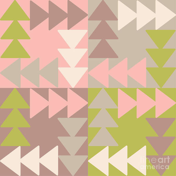 Triangle Digital Art - Decorative Vector Poster Geometric by Matryoshka123