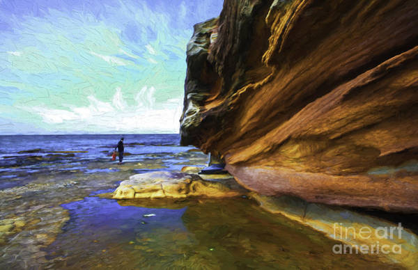 Wall Art - Photograph - Dee Why Headland With Sandstone Cliff by Sheila Smart Fine Art Photography