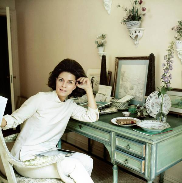 Plate Photograph - Deeda Blair At Home by Horst P. Horst