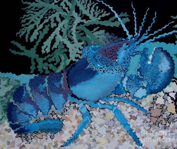 Craw Wall Art - Painting - Deep Blue by Anthony Morris