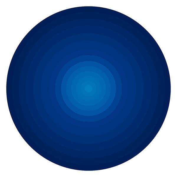 Wall Art - Painting - Deep Blue Circles by Frank Tschakert