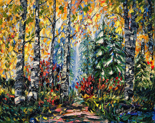 Painting - Deep In The Woods by OLena Art - Lena Owens