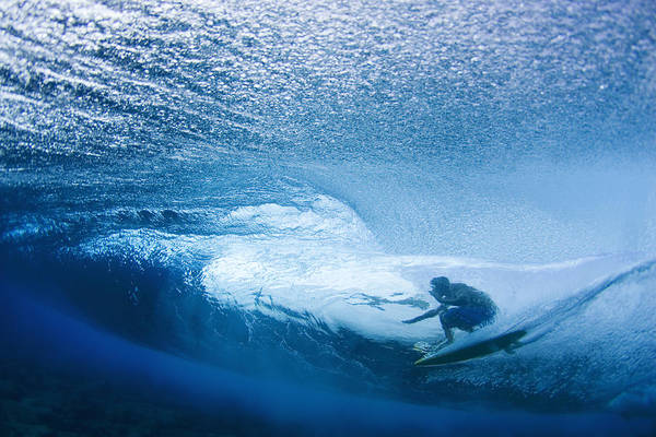 Surfing Photograph - Deep Inside by Sean Davey