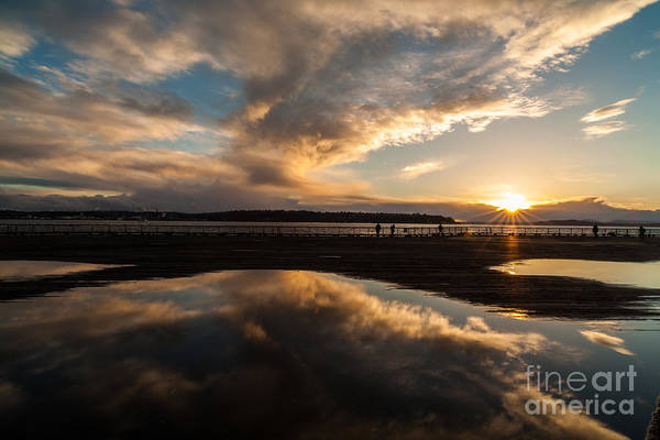 Puget Sound Photograph - Deep Pool Of Sunset Light by Mike Reid