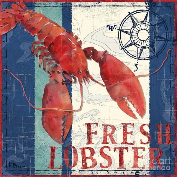 Crab Painting - Deep Sea Lobster by Paul Brent
