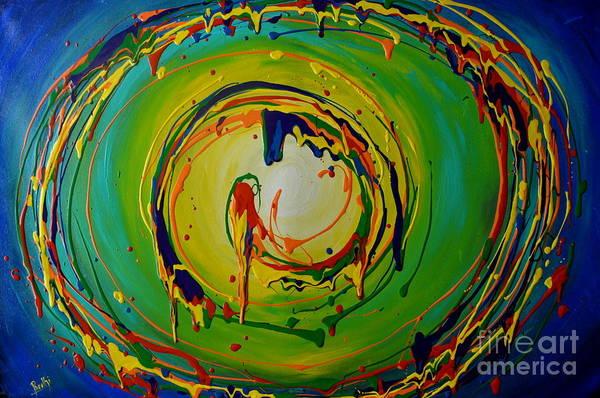 Deep Sea Swirls Art Print