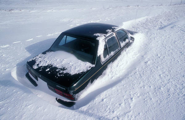 Drift Photograph - Deep Snow by Jim Reed/science Photo Library