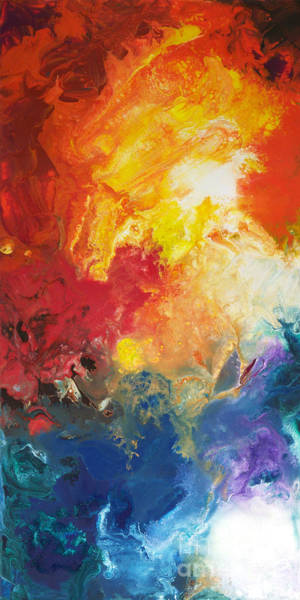 Painting - Deep Space Canvas One by Sally Trace