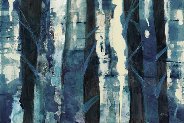 Wall Art - Painting - Deep Woods IIi Indigo by Albena Hristova