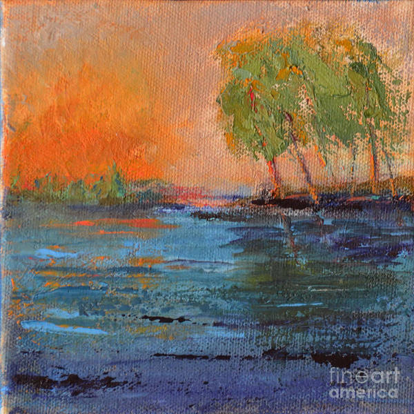 Wall Art - Painting - Deepest Sunset by Patricia Caldwell