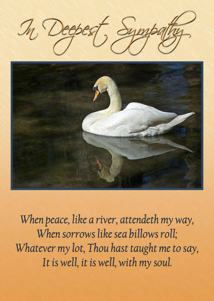 Photograph - Deepest Sympathy Card by Carolyn Marshall