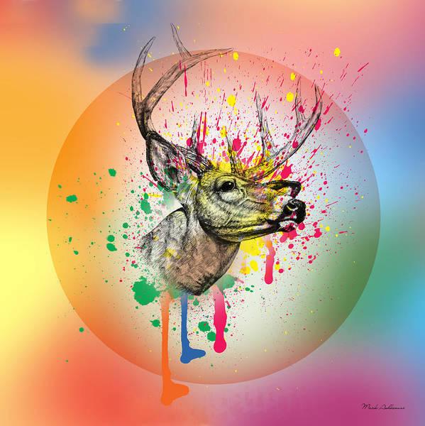Deer Digital Art - Deer 7 by Mark Ashkenazi