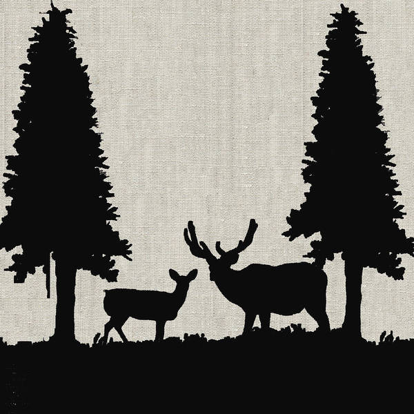 Painting - Deer In Forest by Portraits By NC