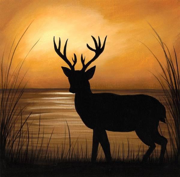 Wall Art - Painting - Deer Lake by Elaina  Wagner