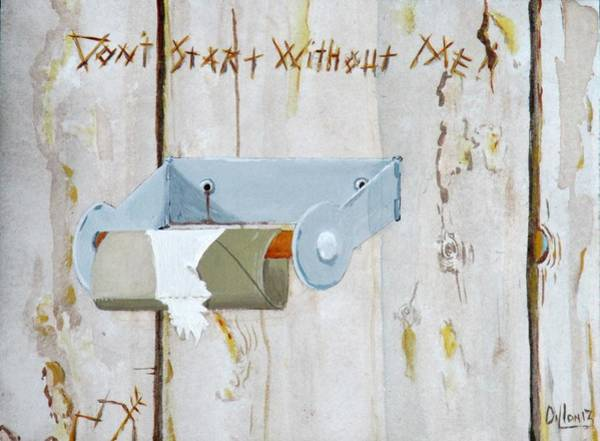 Novelties Painting - Deer Lease Dilemma by Michael Dillon
