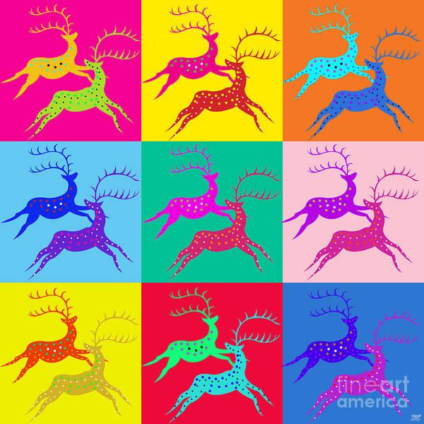 Revolting Digital Art - Deer by Neil Finnemore