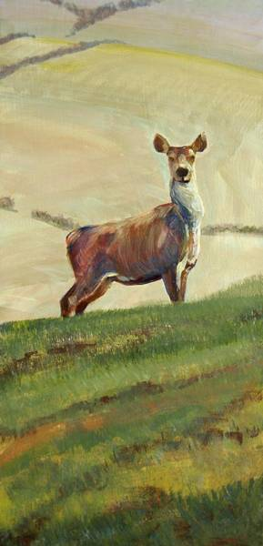 Painting - Deer Painting by Mike Jory