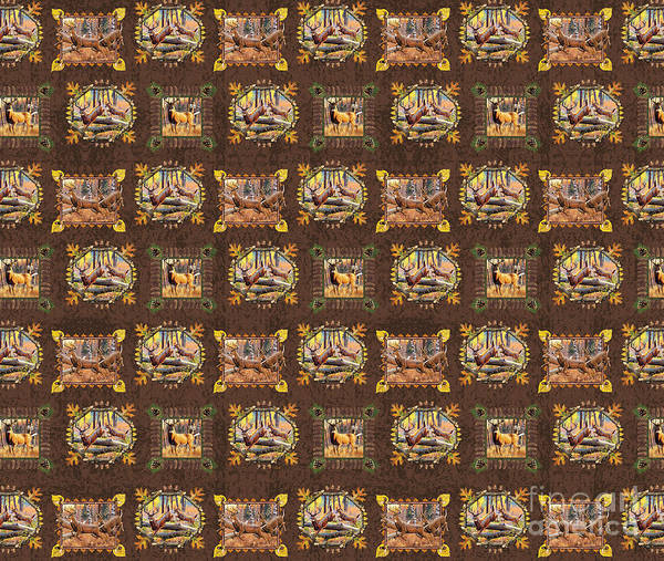 Painting - Deer Panel Douvet Design by JQ Licensing