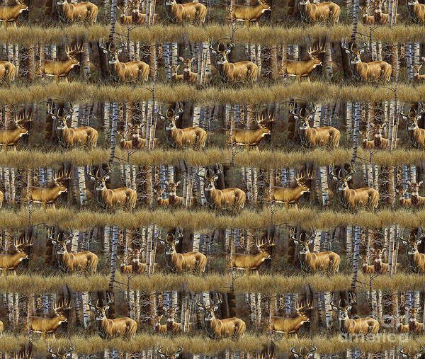 Painting - Deer Woods Duvet Pillow Art by JQ Licensing