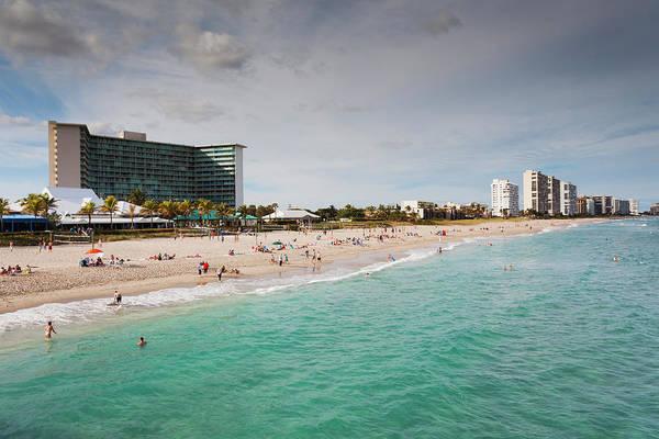 Surf City Usa Photograph - Deerfield Beach, Florida, Exterior View by Walter Bibikow