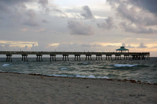 Photograph - Deerfield Beach International Fishing Pier Sunrise by Rafael Salazar
