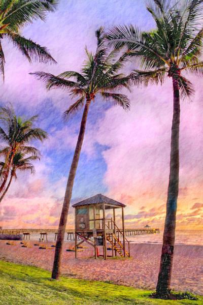 Boynton Photograph - Deerfield Beach Watercolor by Debra and Dave Vanderlaan
