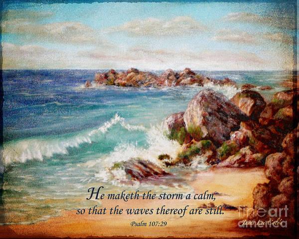 Deerfield Wave Psalm 107 Art Print