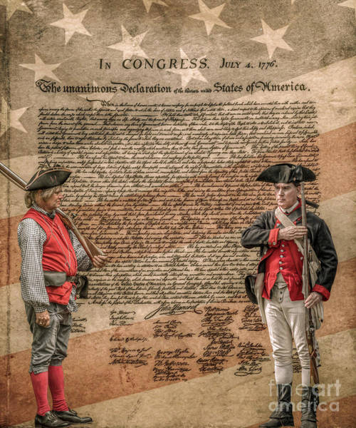 Declaration Of Independence Digital Art - Defenders Of Independence by Randy Steele