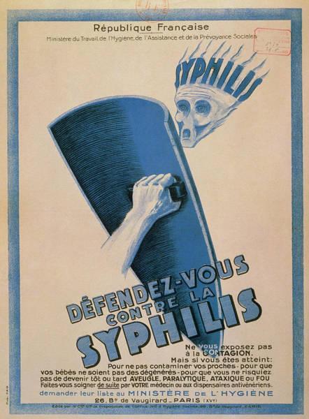Public Health Photograph - Defendez-vous Contre La Syphilis by Jean-loup Charmet/science Photo Library