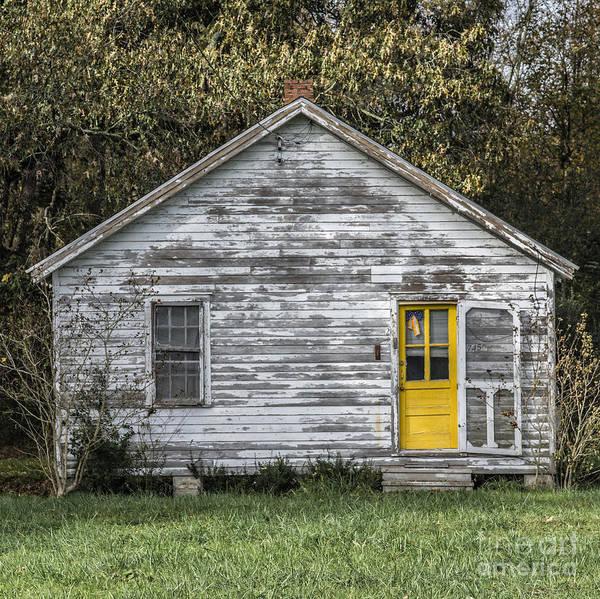 Defiant Yellow Door - Square Art Print