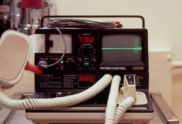 Heart Attack Wall Art - Photograph - Defibrillator Machine by Andrew Mcclenaghan/science Photo Library.
