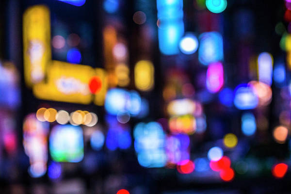 Photograph - Defocused Lights Of Cityscape Bokeh by Jay's Photo
