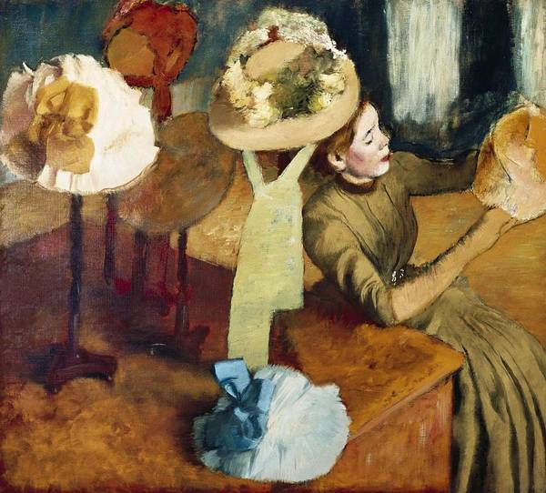 Millinery Photograph - Degas, Edgar 1834-1917. The Millinery by Everett