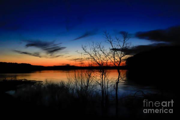 Photograph - Degray Lake Sunset by Jim McCain