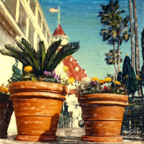 Del Flower Pots Art Print