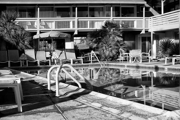 Wall Art - Photograph - Del Marcos Pool Bw Palm Springs by William Dey