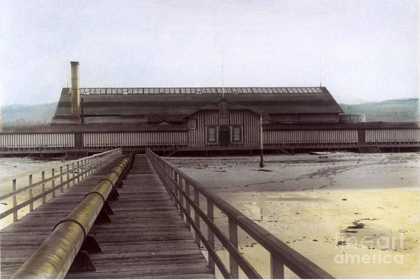 Photograph - Del Monte Bath House From Pier California  Circa 1890 by California Views Archives Mr Pat Hathaway Archives
