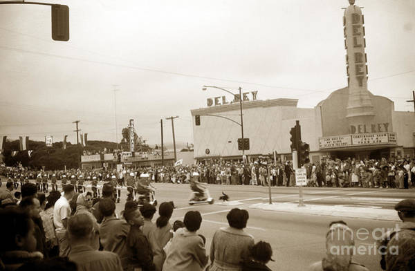 Photograph - Del Rey Theater Seaside Monterey County California July 4 1956 by California Views Archives Mr Pat Hathaway Archives