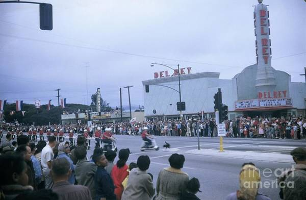 Photograph - Del Rey Theatre Seaside California July 4 1956  by California Views Archives Mr Pat Hathaway Archives