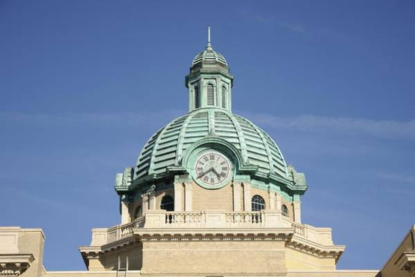 Photograph - Deland Courthouse Clock by Bradford Martin