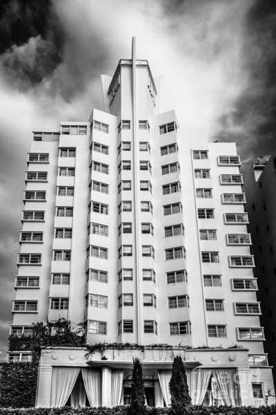 Wall Art - Photograph - Delano Hotel - South Beach - Miami - Florida - Black And White by Ian Monk
