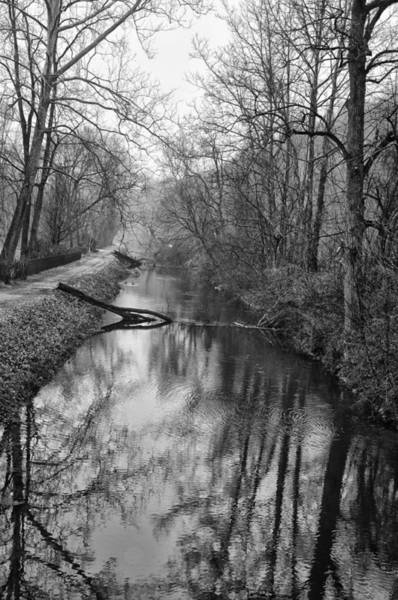 Wall Art - Photograph - Delaware Canal In Black And White by Bill Cannon
