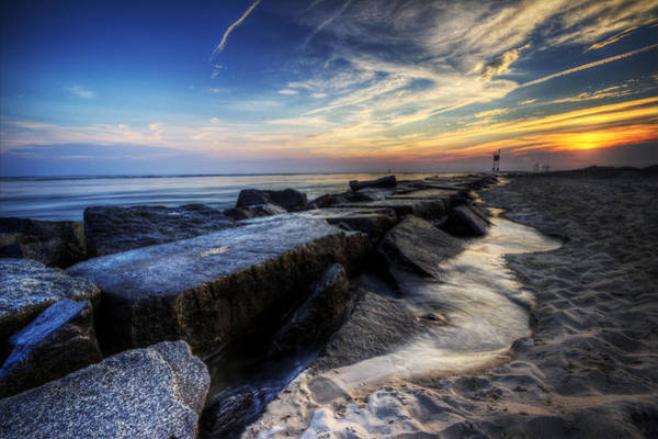 Photograph - Delaware Sunrise At Indian River Inlet by David Dufresne