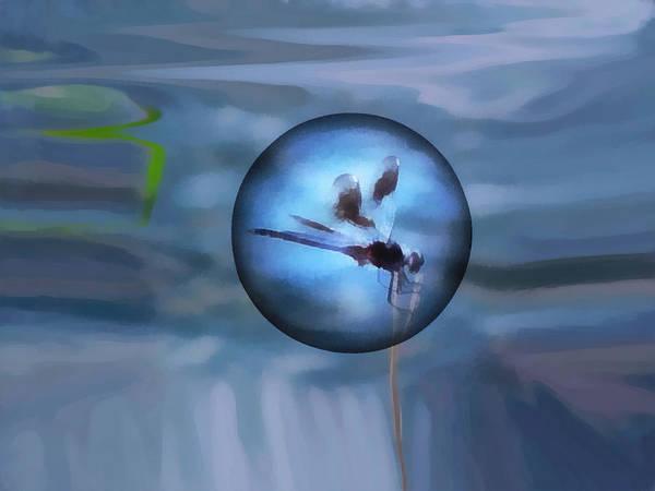 Blue Bug Digital Art - Delayed Flight by Wendy J St Christopher