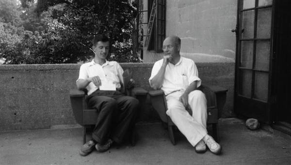 Gene Photograph - Delbruck And Stanley by American Philosophical Society