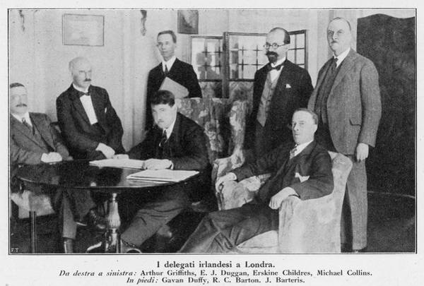 Delegation Photograph - Delegation In London Including  Arthur by Mary Evans Picture Library