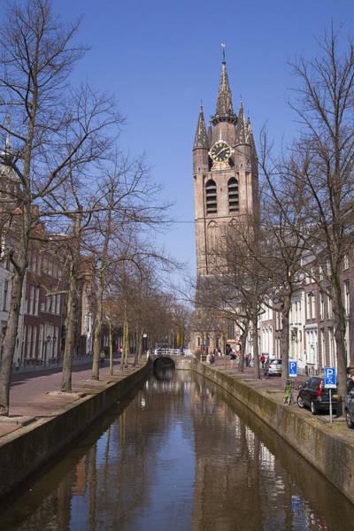 Photograph - Delft  Oude Kerk by Maria Heyens