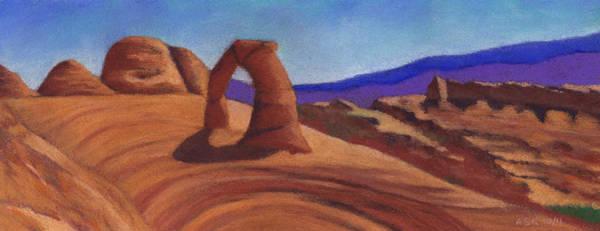 Pastel - Delicate Arch by Anne Katzeff