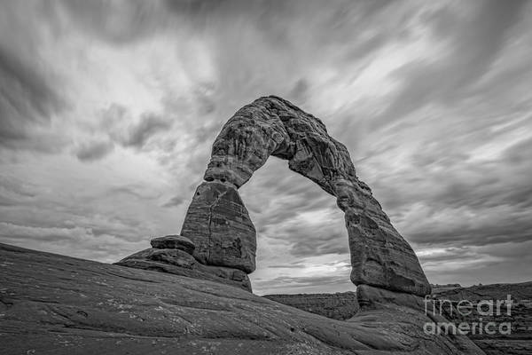 Delicate Arch Wall Art - Photograph - Delicate Arch Bw by Michael Ver Sprill
