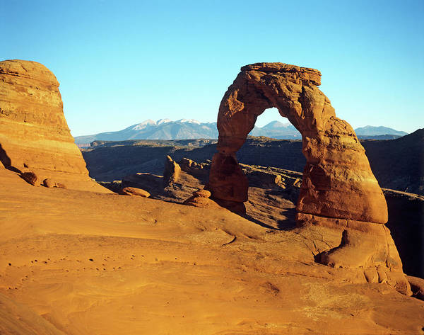 Natural Arch Photograph - Delicate Arch In Arches National Park by Adina Tovy